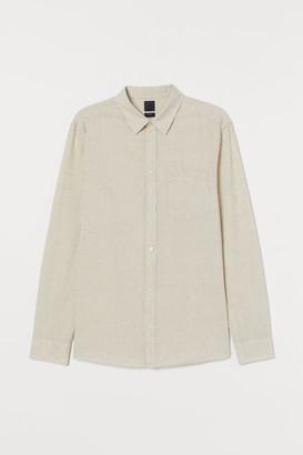H&M Slim Fit Linen-blend Shirt