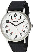 Roots 'Core' Quartz Stainless Steel and Canvas Casual Watch, Color:Black (Model: 1R-LF130WH6B)