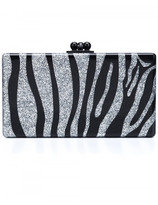 Edie Parker zebra pattern rectangular clutch