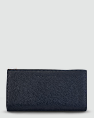 Status Anxiety In The Beginning Bifold Wallet - Navy Blue