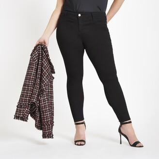 River Island Womens Plus Black Molly mid rise jeggings