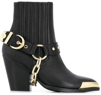 Versace Metal-Tipped Ankle Boots