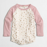 J.Crew Factory Girls' glitter hearts baseball T-shirt