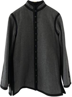 Saint Laurent Grey Wool Coat for Women Vintage