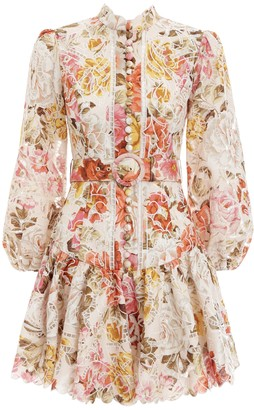 Zimmermann Bonita Embroidered Short Dress