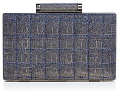 Sondra Roberts Two-Toned Metallic Box Clutch