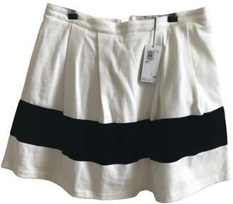 Petit Bateau Ecru Cotton Skirt for Women