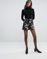 Miss Selfridge Floral Jacquard Mini Skirt