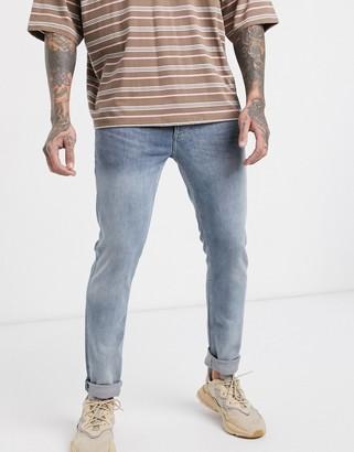 Topman skinny jeans in blue