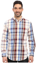 U.S. Polo Assn. Long Sleeve Classic Fit Plaid Poplin Button Down Collar Sport Shirt