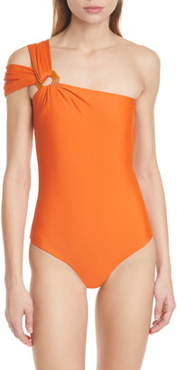 Johanna Ortiz One-Shoulder One-Piece Swimsuit