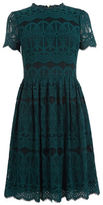 "Oasis LONG LACE SKATER DRESS [span class=""variation_color_heading""]- Teal Green[/span]"