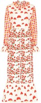 Helmstedt picnic-print quilted maxi dress