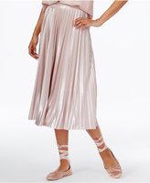 Rachel Roy Pleated Lame Skirt, Created for Macy's