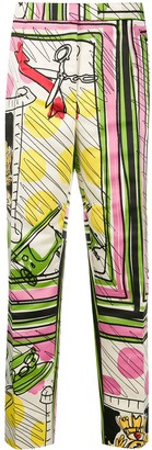 Moschino Pre-Owned 1990s Abstract Print Tailored Trousers