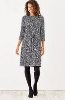 J. Jill Wearever Pintucked Print Dress
