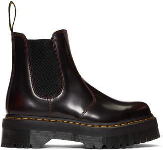 Dr. Martens Burgundy 2976 Quad Chelsea Boots
