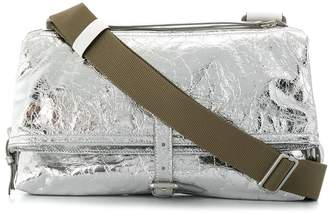 Maison Margiela metallic crinkle-effect crossbody bag