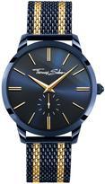 Thomas Sabo Rebel Spirit Men's Watch Blue, Dial 42mm, 2 tone Mesh Bracelet