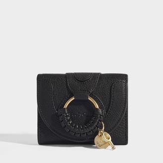 See by Chloe Hana Mini Wallet In Black Grained Goatskin