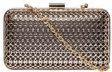 Dorothy Perkins Black And Gold Caged Clutch