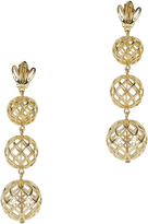 Lele Sadoughi Tiered Pineapple Earrings