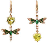 Betsey Johnson Spring Critters Cubic Zirconia Butterfly Drop Earrings
