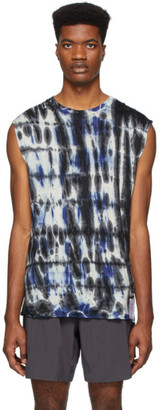 Satisfy Blue and Black Tie-Dye Cloud Muscle T-Shirt