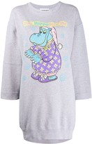 Moschino Hippo graphic print sweatshirt dress