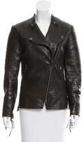 Veronica Beard Leather Moto Jacket