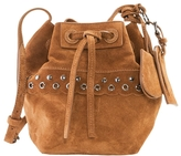 Vanessa Bruno Mini Suede Etoile Bag With Eyelets And Studs