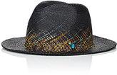 CA4LA Men's Fireworks Straw Panama Hat