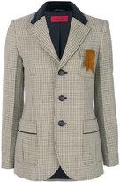 The Gigi plaid slim-fit blazer