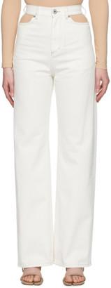 Maison Margiela White Wide-Leg Cut-Out Jeans