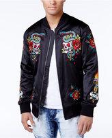 Reason Men's Only At Macy's Satin Appliqué Bomber Jacket