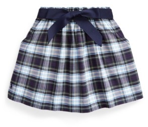 Polo Ralph Lauren Little Girls Tartan Plaid Oxford Skirt