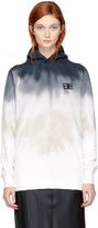 Baja East Navy and White Tie-dye Long Hoodie