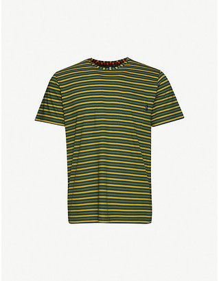 Paul Smith Logo-embroidered striped cotton-jersey T-shirt