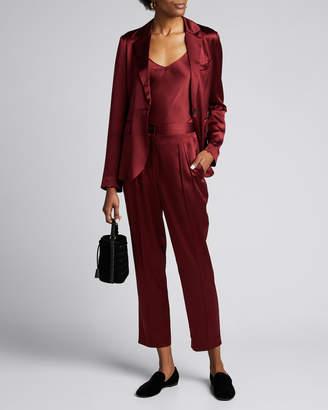 Nili Lotan Sophia Silk Charmeuse Blazer Jacket