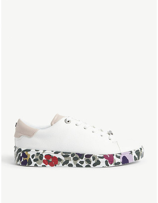 Ted Baker Weni Wilderness-print leather trainers