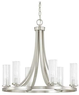 Capital Lighting Fixture Co. Capital Lighting 4736BN-150 Emery 6-Light Chandelier, Brushed Nickel