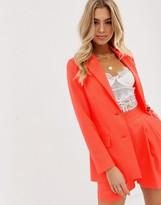 Asos Design DESIGN pop coral soft suit blazer