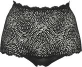 Wolford Tulle & Lace High Waist Briefs