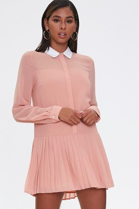 Forever 21 Pleated Drop-Waist Dress