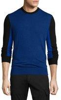 Michael Kors Colorblock Crewneck Sweater, Navy