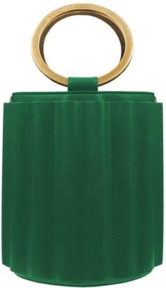 Water Metal Handle Bucket Bag - Green