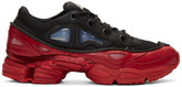 Raf Simons Black & Red adidas Originals Edition Ozweego 3 Sneakers