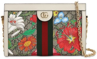 Gucci Flora Gg Supreme Chain Shoulder Bag