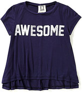 People's Project LA Big Girls 7-16 Silk Screen Awesome Graphic Tee