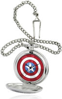 Marvel Captain America Shield Mens Silver-Tone Pocket Watch